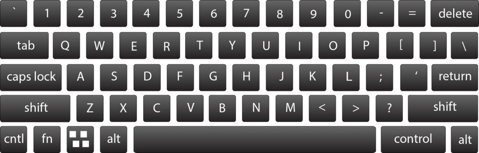 gray keyboard as a graphical representation