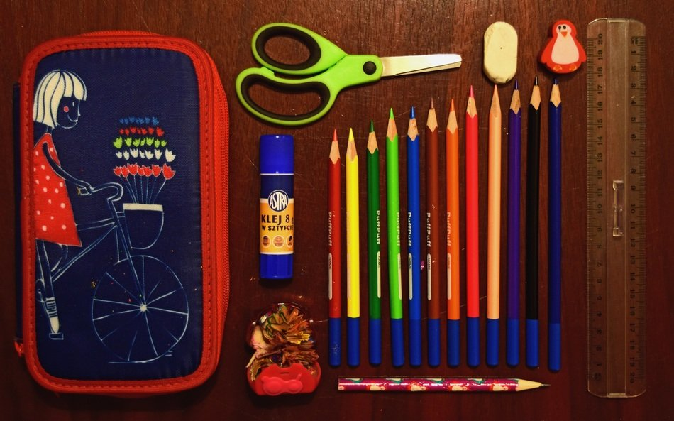 pencil case and its contents