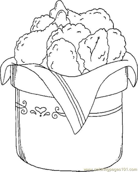 Fried Chicken Coloring Pages Free Image
