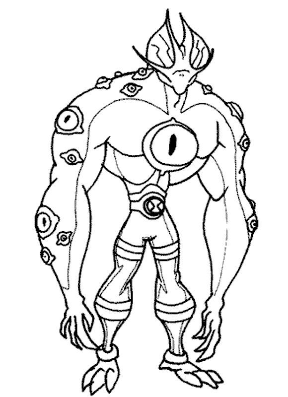 Ben 10 Omniverse Coloring Page - Free Ben 10 Coloring Pages ...   800x580