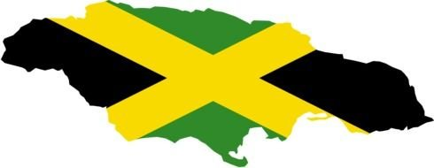 Jamaica Flag Map drawing