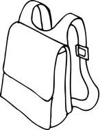 Backpack, outline, Coloring Page