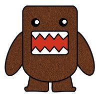 Cartoon brown Domo clipart