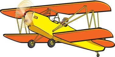 red Airplane Clip Art drawing