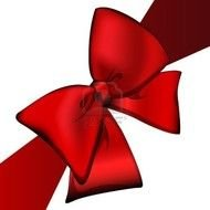 Clipart of Red Christmas Bow