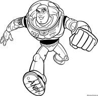 Black and white drawing of Buzz clipart