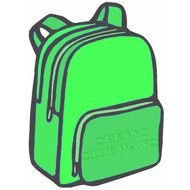 Green Backpack drawing