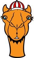 nice Camel face Clip Art drawing