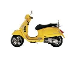 yellow scooter on a white background