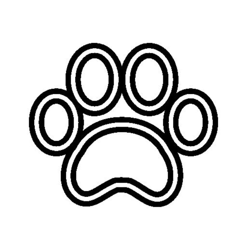 Dog Paw Print Outline N6 free image