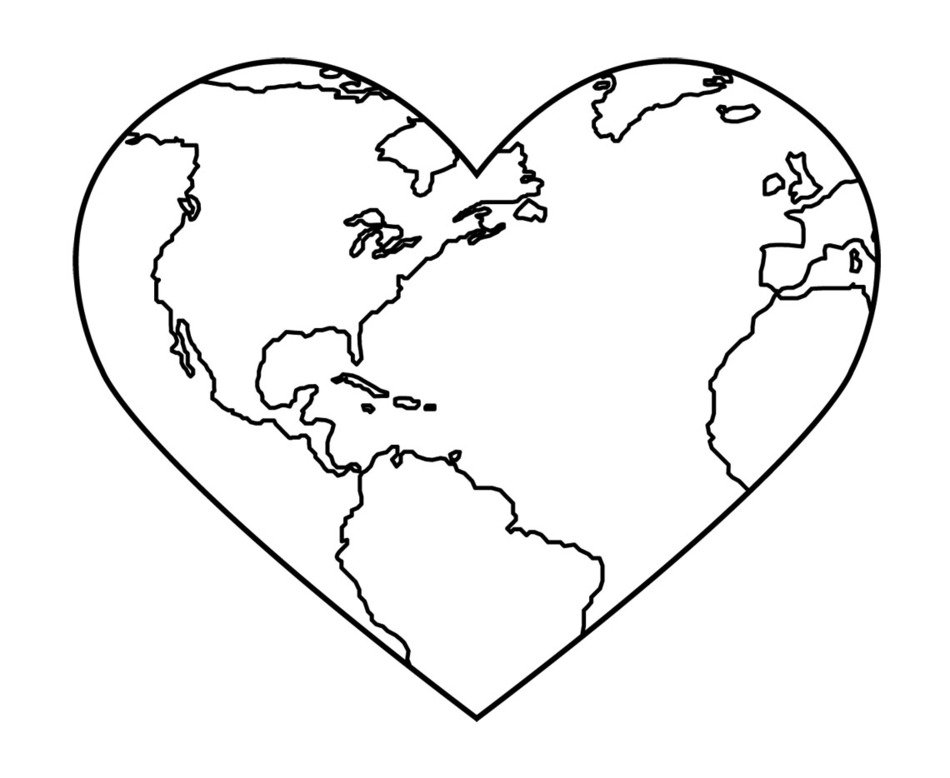 Earth Day heart drawing
