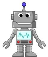 Toy Robot Clip Art drawing