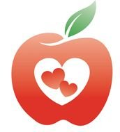 Healthy apple Logo drawing