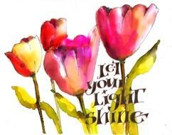 Let Your Light Shine Coloring Page Free Image