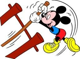 mickey mouse as an athlete