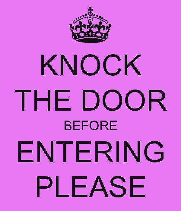 image about Please Knock Sign Printable identified as Knock Prior to Moving into Indicator no cost graphic