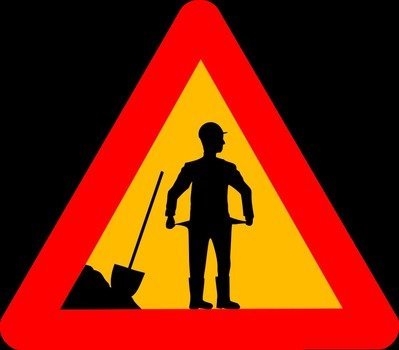 A funny road sign about financial crisis clipart