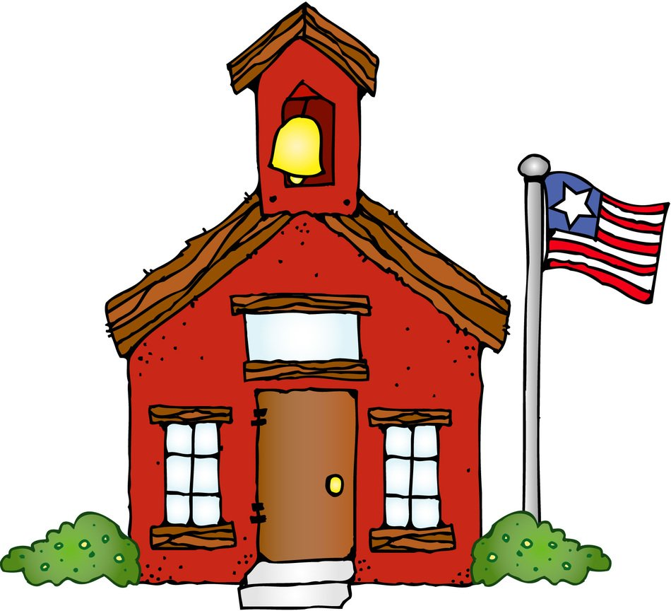 Schoolhouse in USA clipart