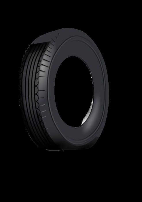New black tire clipart