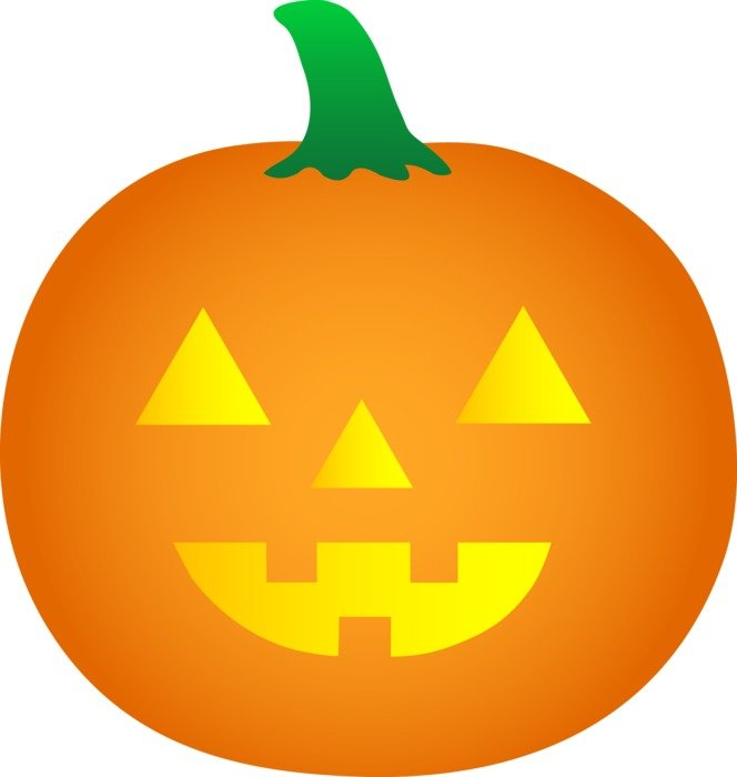 orange Halloween Pumpkin Clip Art
