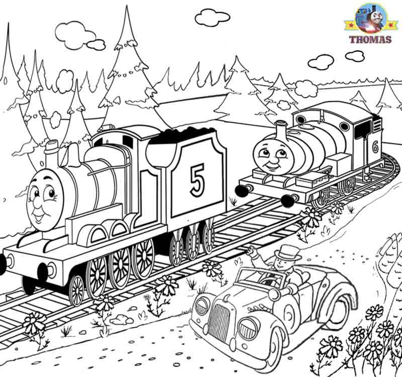 - Thomas Train Coloring Pages Drawing Free Image