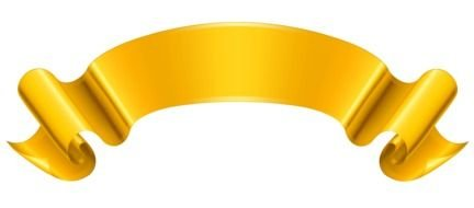 Gold Ribbon Banner Clip Art N7