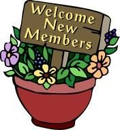 Welcome New Members Clip Art drawing