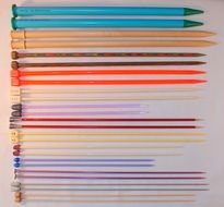 variety of knitting needles as a picture for clipart