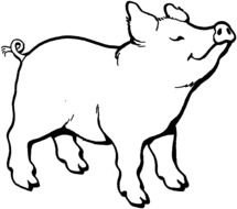 nice Pig Coloring Page drawing