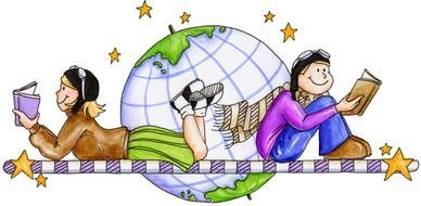 Reading book Clip Art drawing