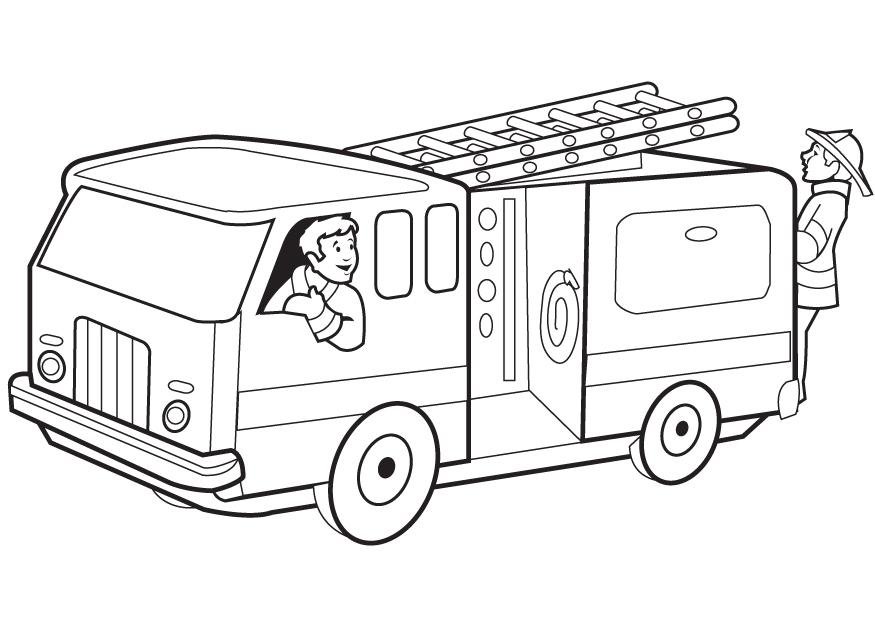 - Drawn Fire Truck In Coloring Book Free Image