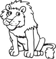 Lion as a graphic illustration