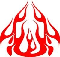 clipart of the Flame Graphic
