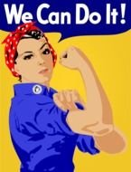 We Can Do It Clip Art drawing