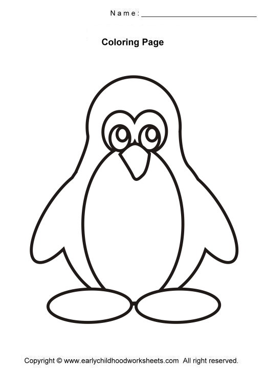 Penguin Coloring Pages N3 Free Image