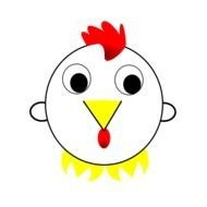 clipart of the Chinese Rooster