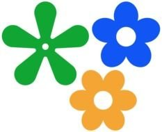 Different Colorful Flowers Clipart