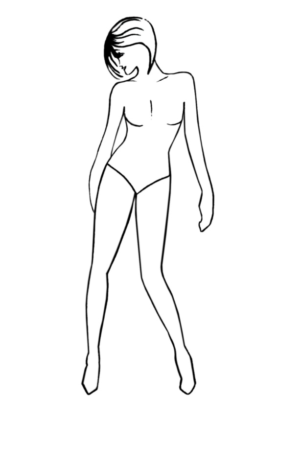 Fashion Design Body Outline Template free image