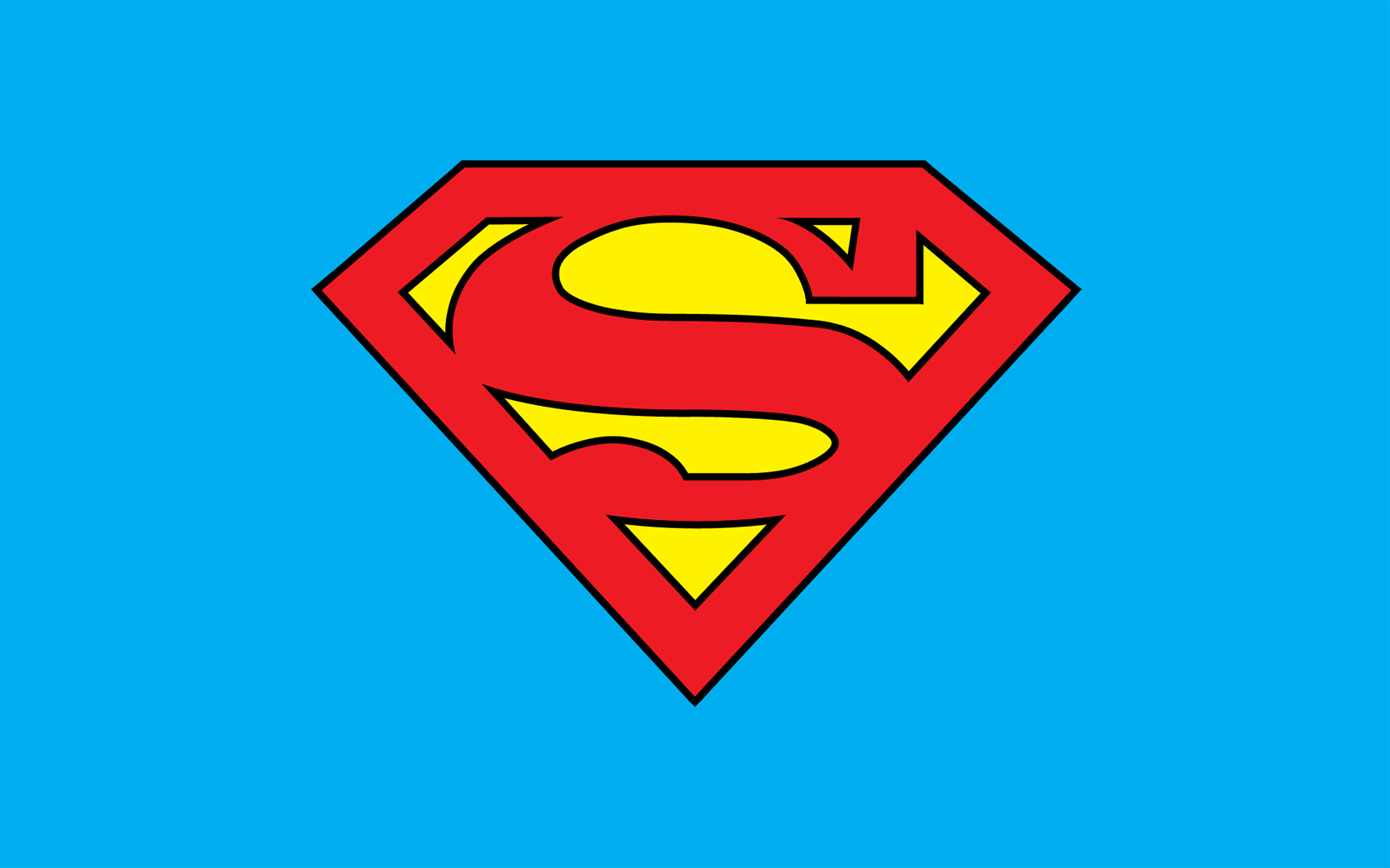 İllustration of the red and yellow Superman Logo free image download