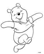 black and white picture winnie the pooh for coloring