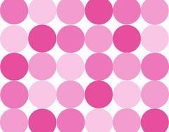 Pink Polka Dots drawing