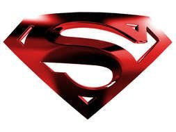big RED Superman Logo drawing