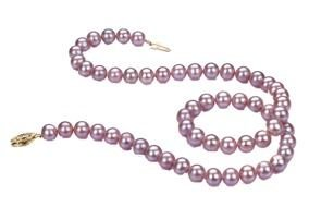 pink pearl necklace as a picture for clipart