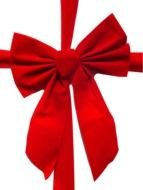 red bow for christmas present