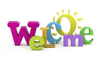 Colorful 'Welcome' letters clipart