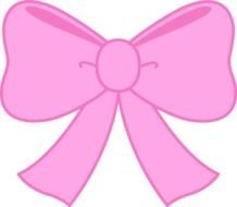 Pink Bow black background Clipart