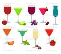 clipart of the colorful beverages