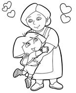 Dora Printable Coloring Pages N2
