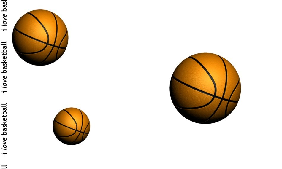 Three basketball balls clipart