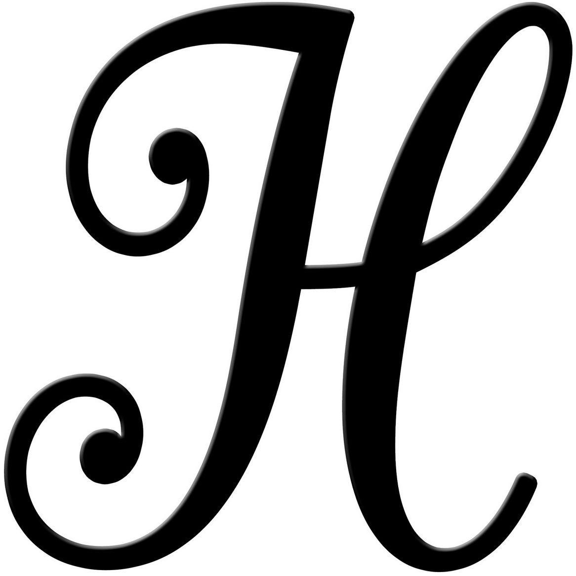 Fancy Cursive Letter H Free Image